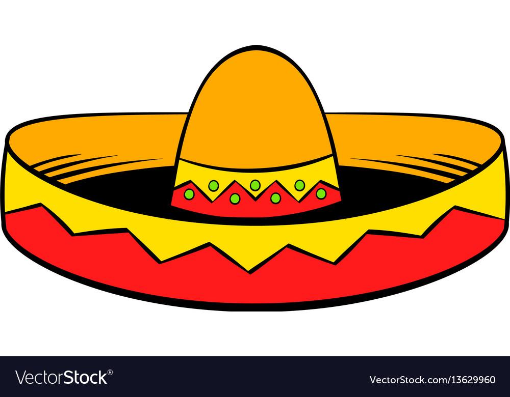 sombrero icon cartoon royalty free vector image rh vectorstock com sombrero cartoon image sombrero cartoon images