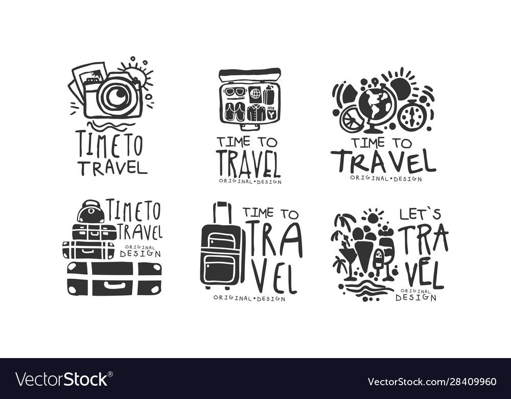 Time to travel labels or logos original design