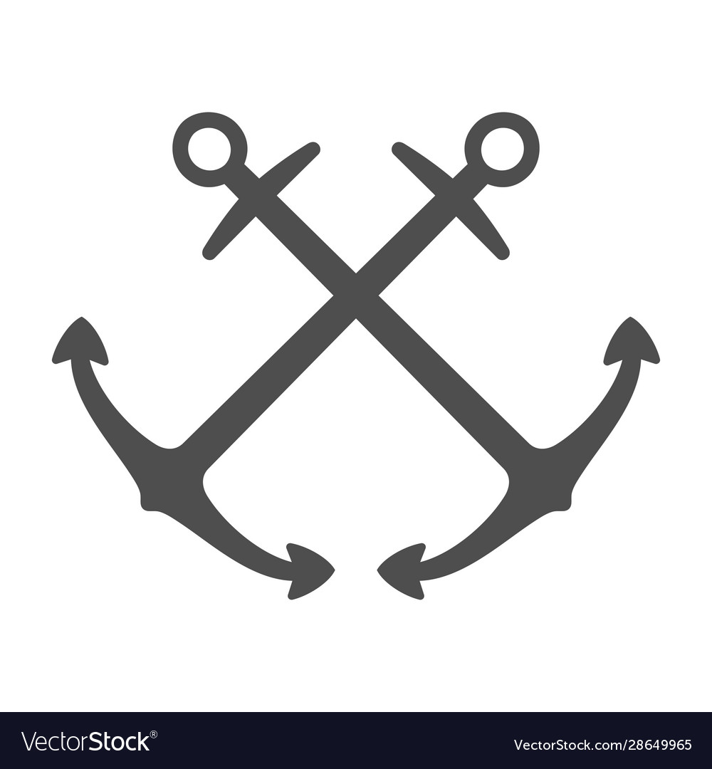Anchor single logo icon separate isolated