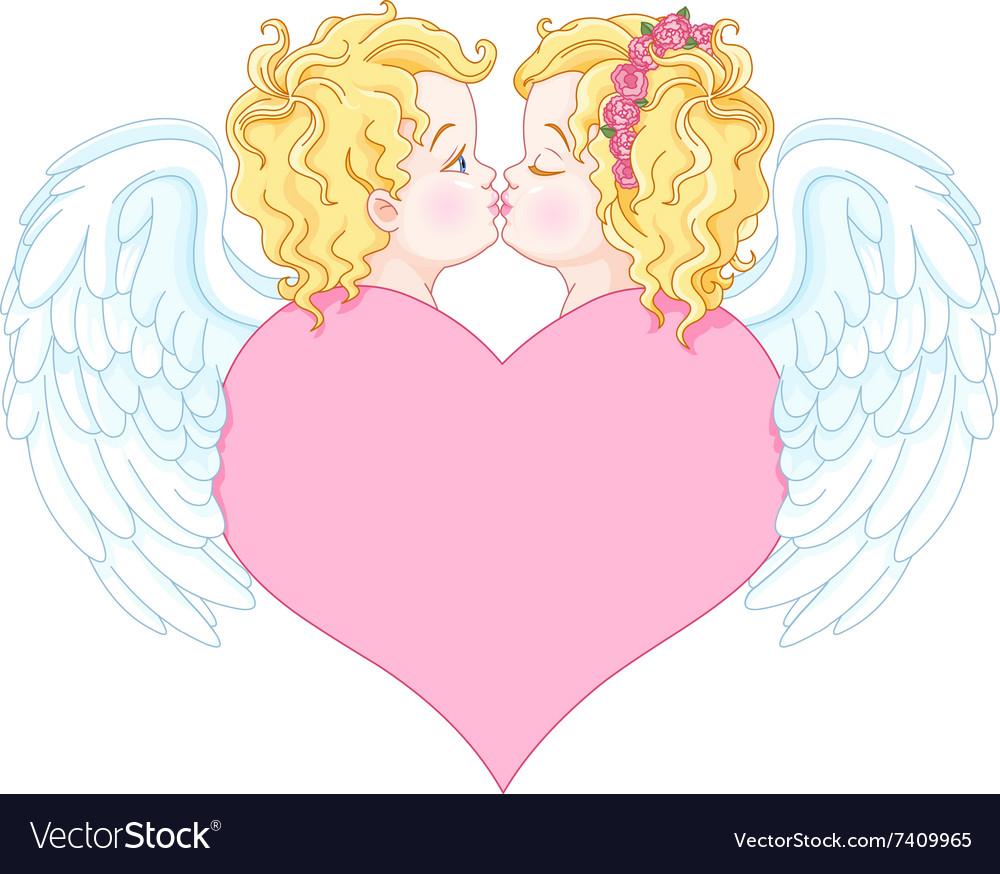 Angels in Love vector image