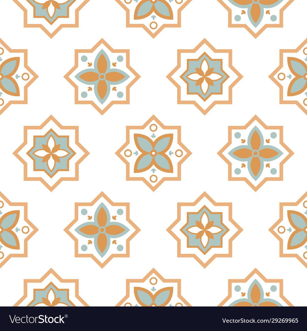 Arabesque seamless pattern tiles oriental ceramic