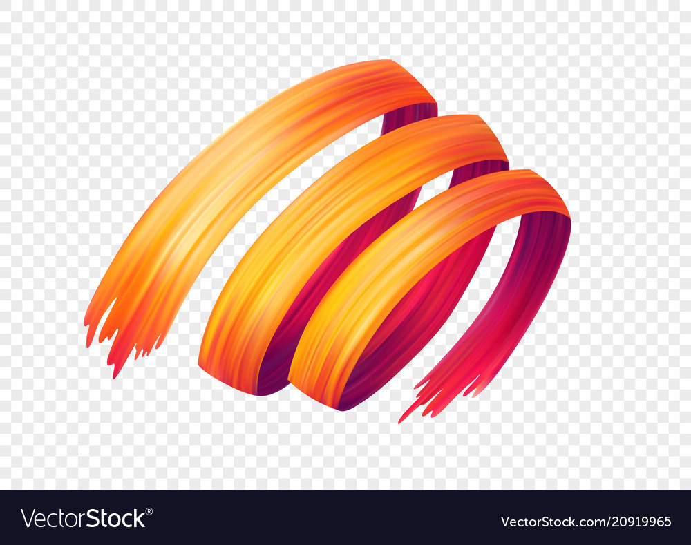 Color brushstroke oil or acrylic paint design
