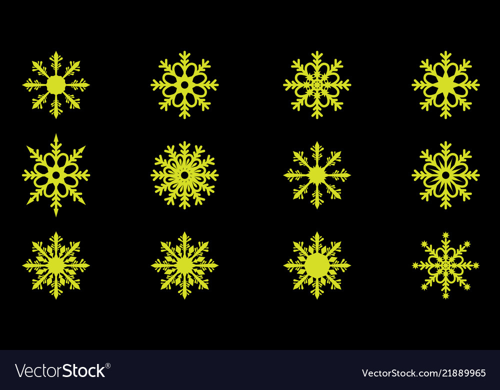 Cute snowflakes collection isolated on