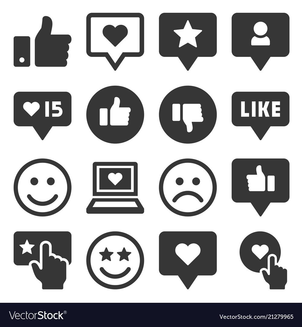 Feedback and like icons set