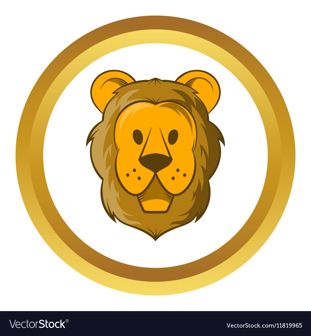 Head of lion icon cartoon style