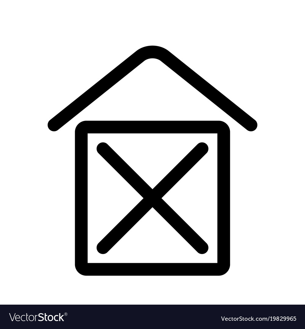 Home sign symbol of house outline modern design
