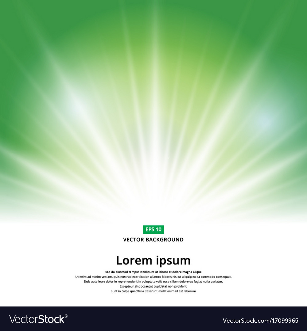 Sunlight effect sparkle on green background