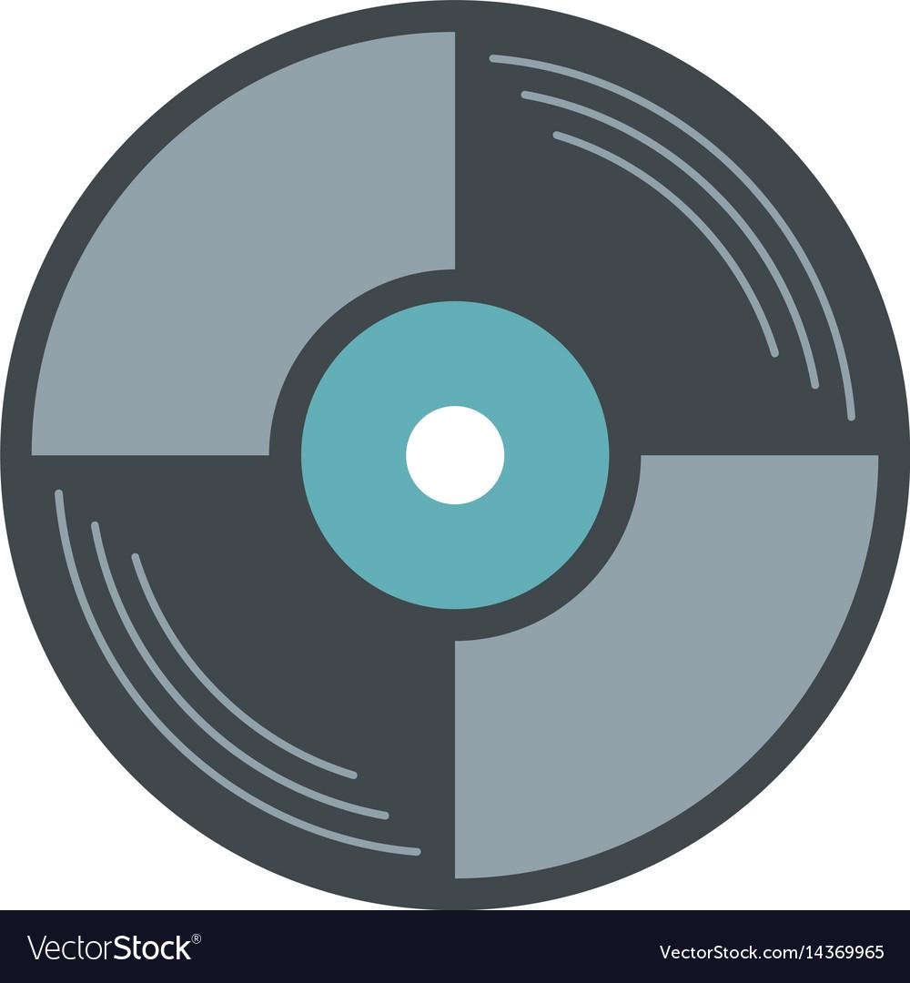 Vinyl disk icon isolated
