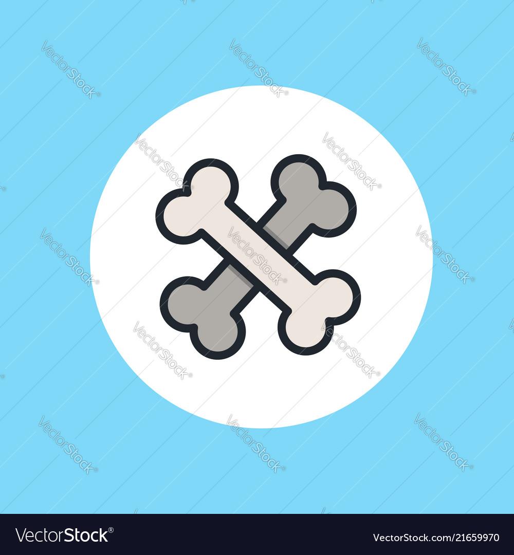 Bone icon sign symbol