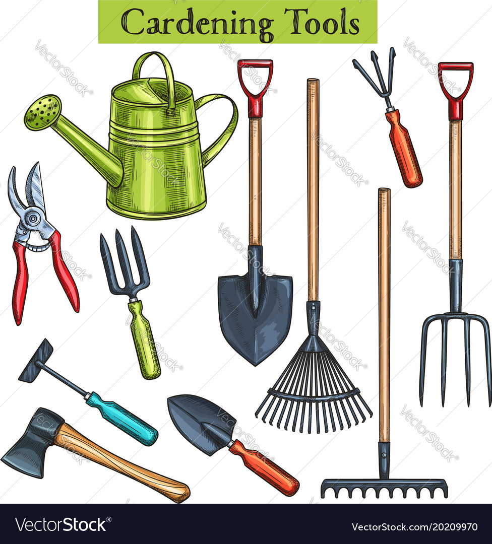 Gardening Tools Royalty Free Vector Image Vectorstock
