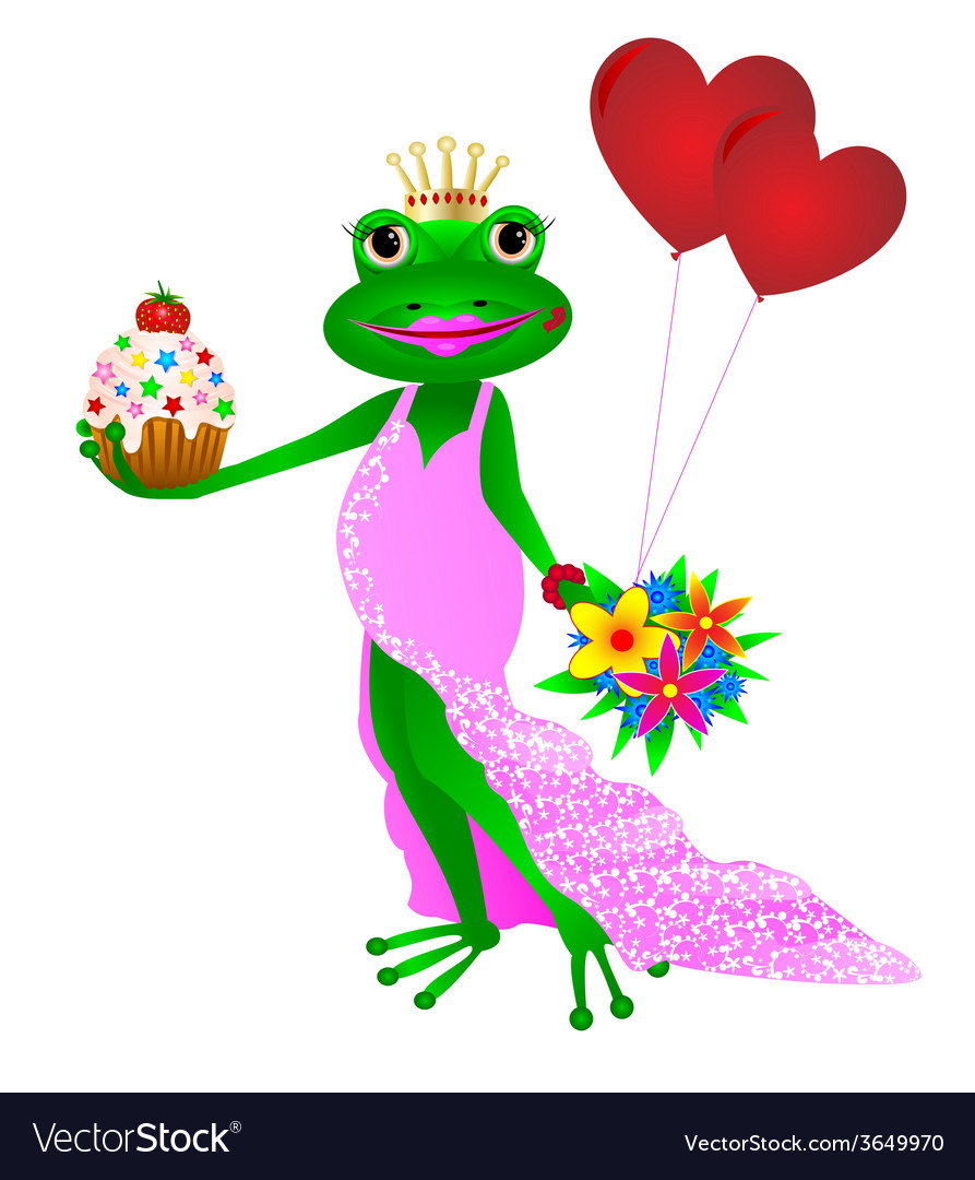 frog birthday Happy Birthday frog Royalty Free Vector Image   VectorStock frog birthday