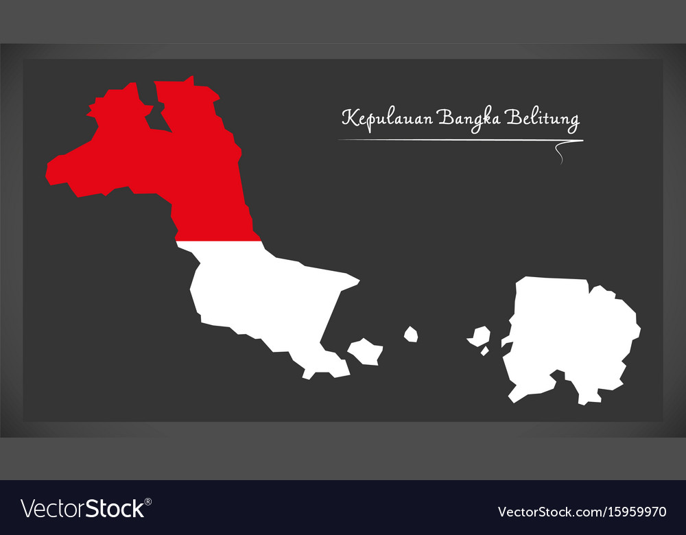 Kepulauan bangka belitung indonesia map with