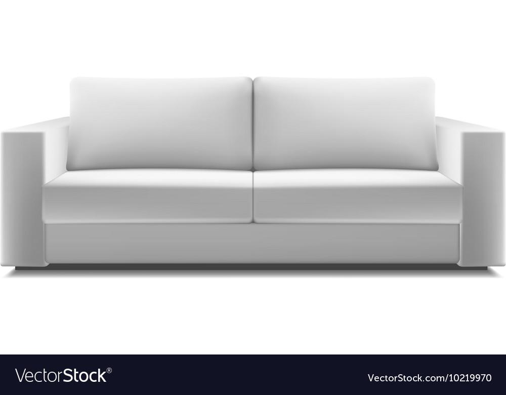 Realistic White Modern Sofa Royalty, White Modern Sofa