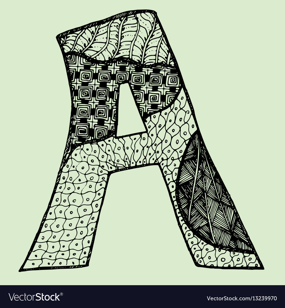 Sketchy letter a on light-green background free