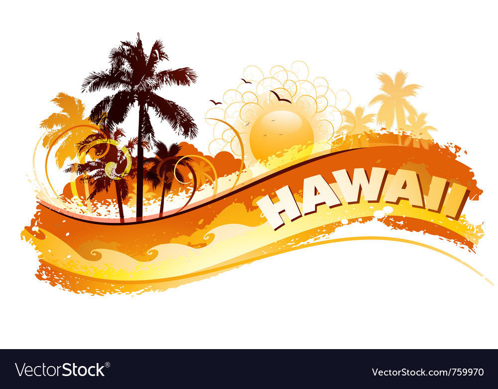 Tropical hawaii background vector image