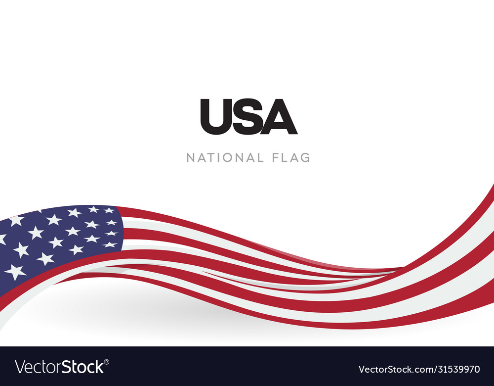 Usa waving flag banner the united states