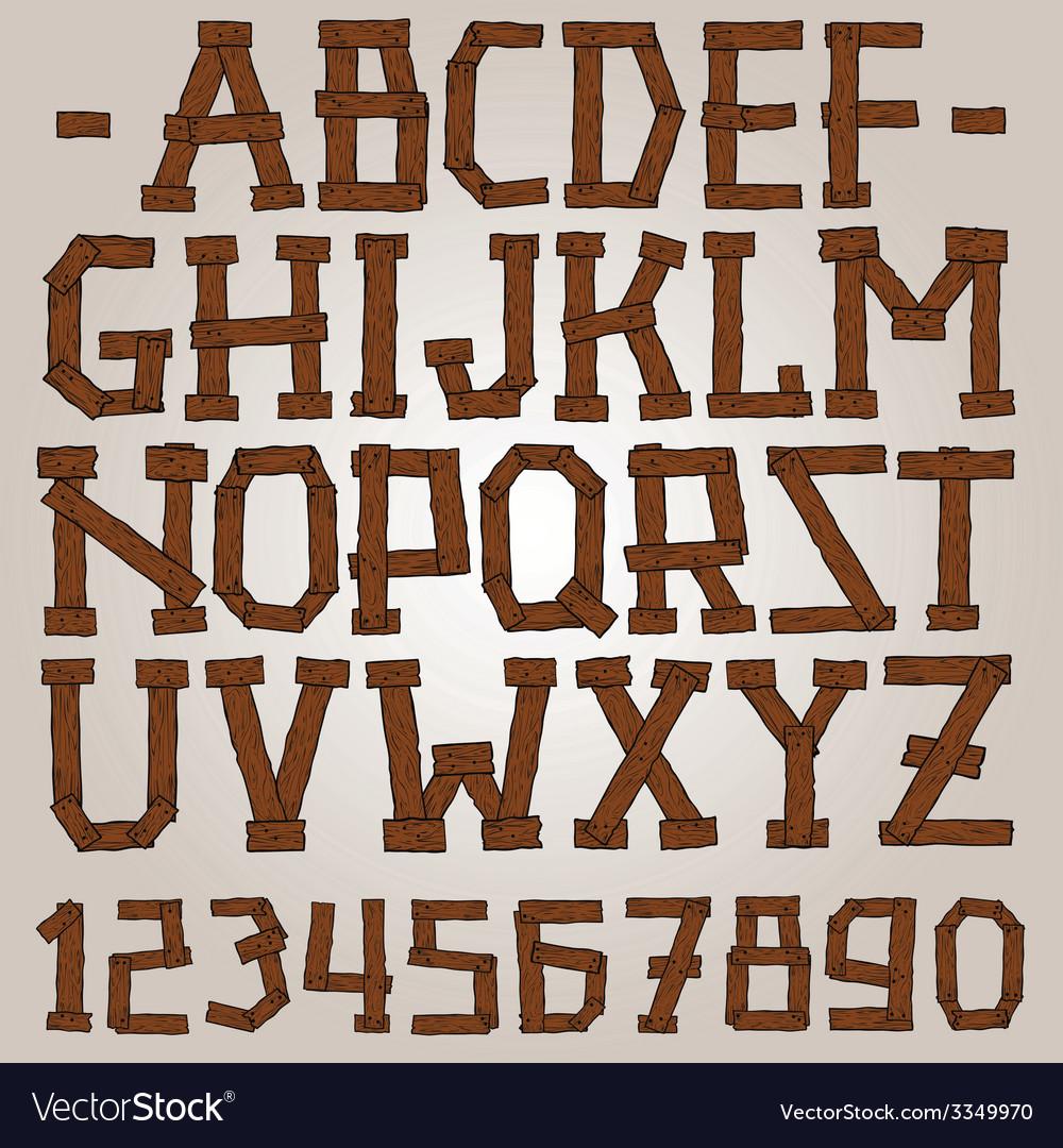Wooden planks font