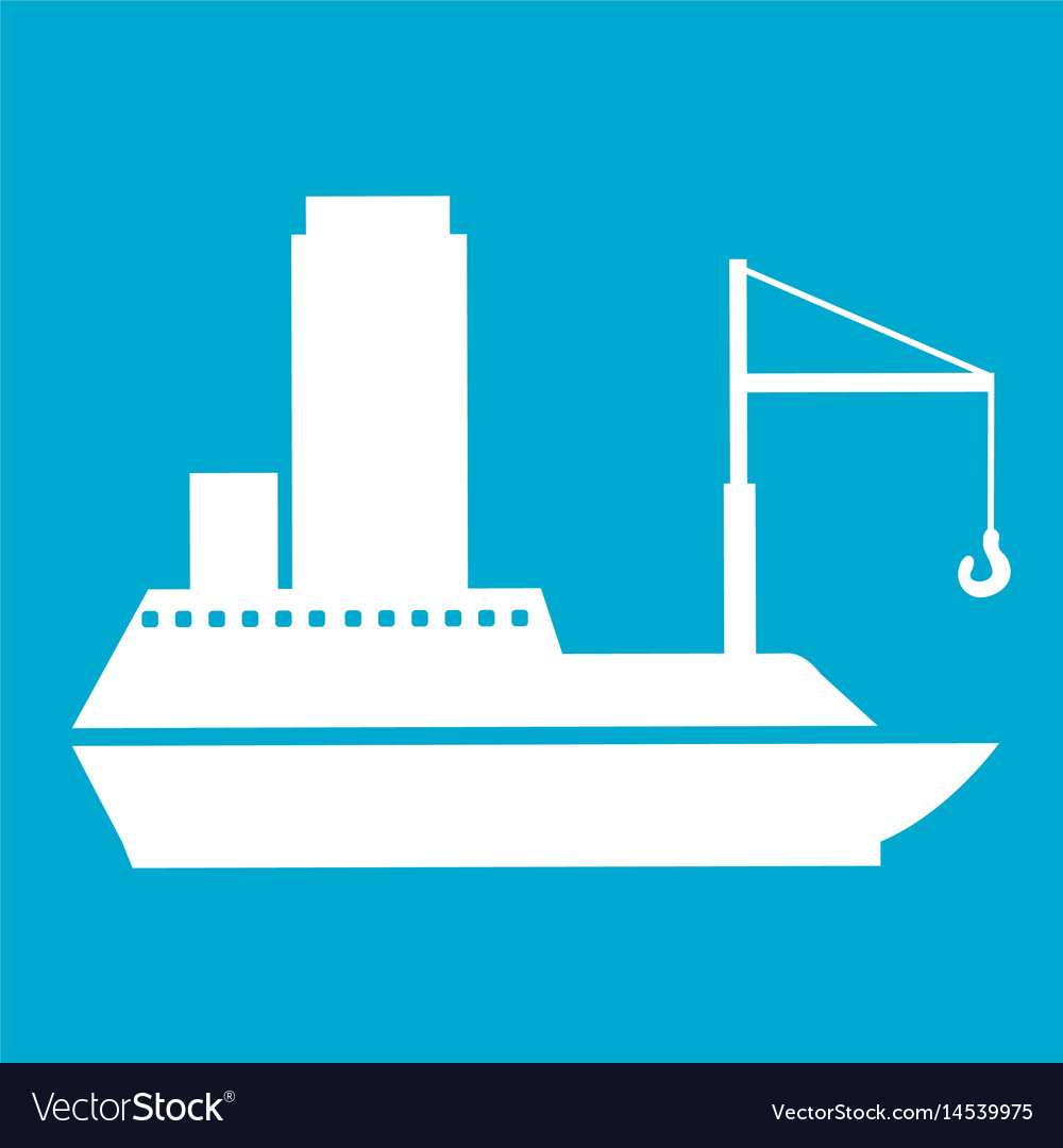 Blue square frame with tanker cargo ship with