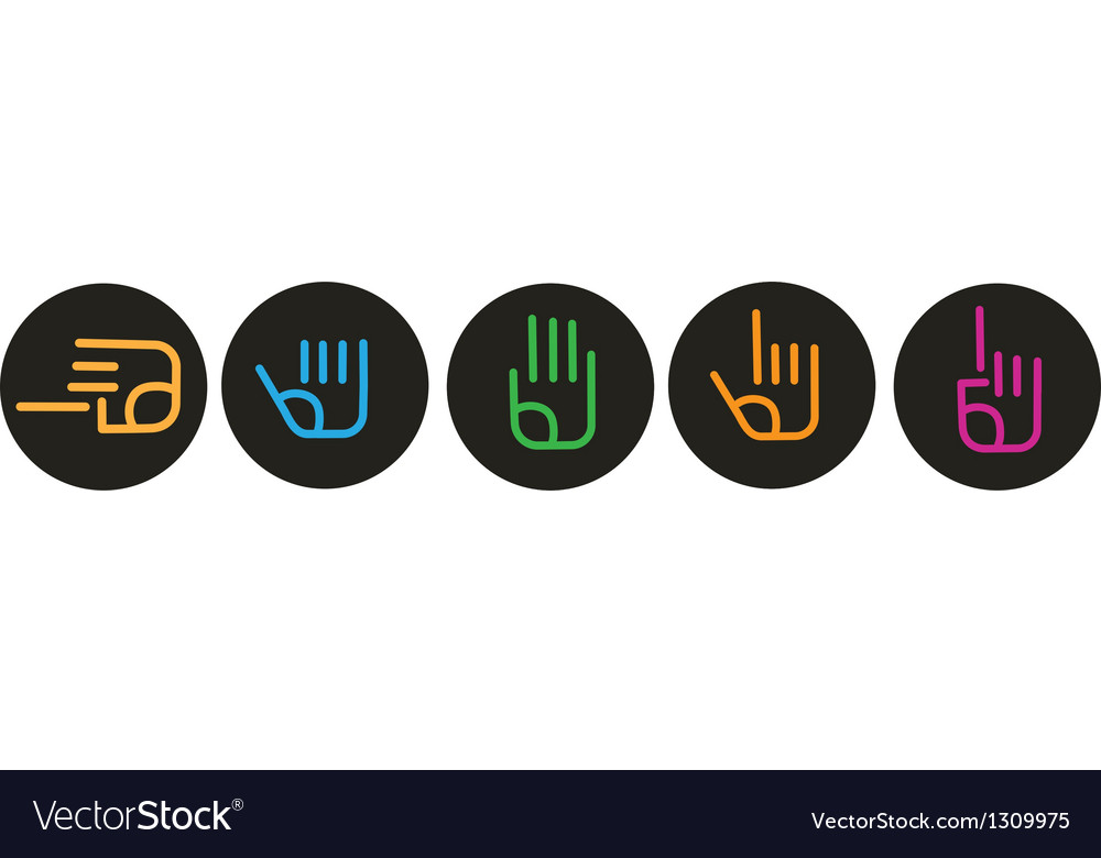 Collection of various hand signs vector image