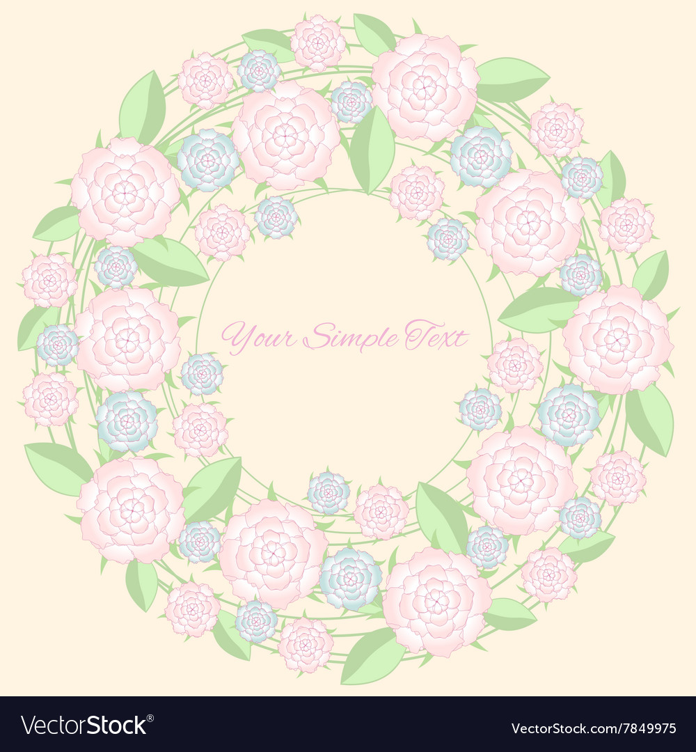Frame of flower Pastel color vector image