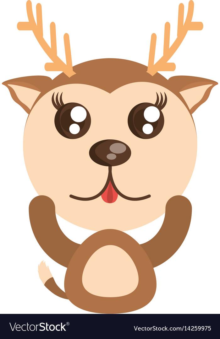 Deer kawaii. Animal toy