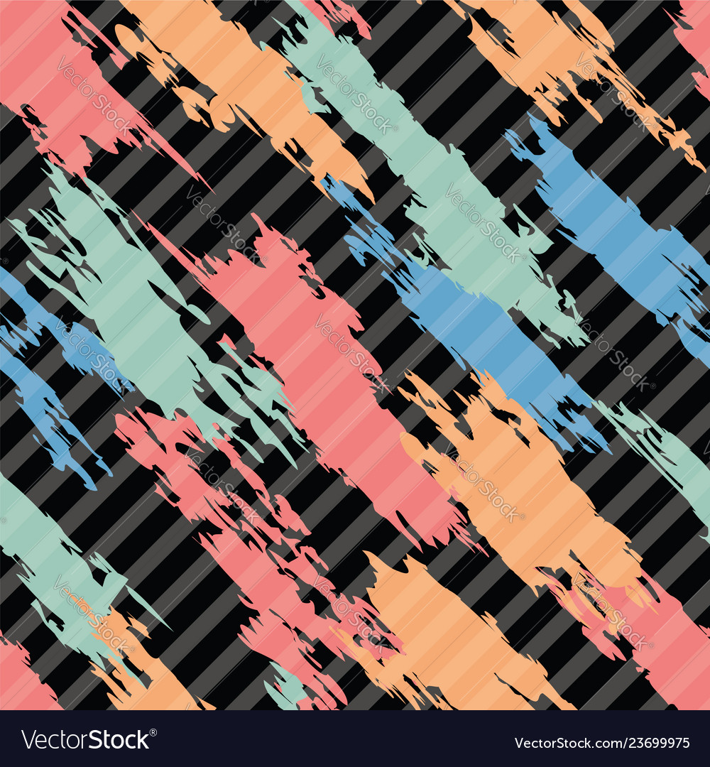 Seamless pattern colorful abstract shapes on