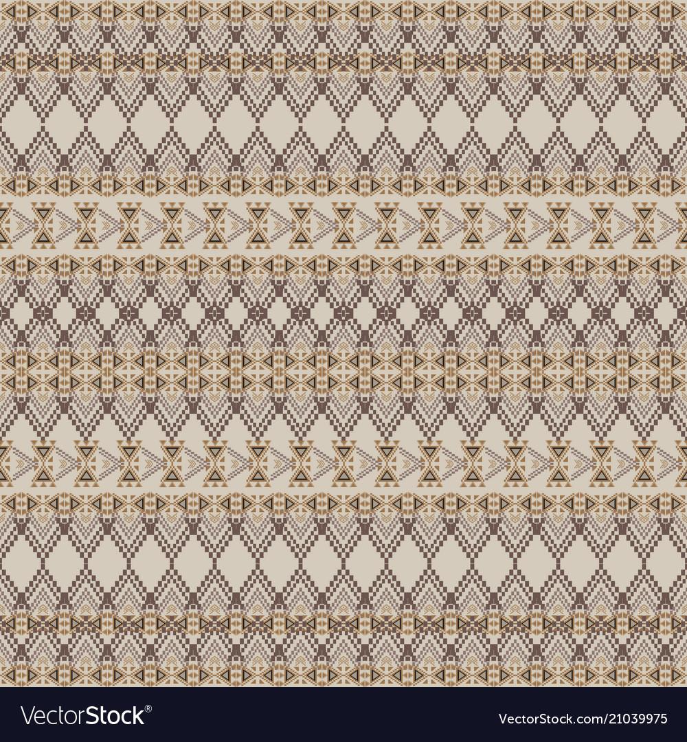 Seamless texture tribal geometric pattern vector image