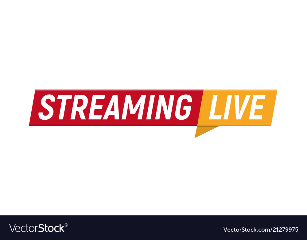 Streaming live logo online video stream icon