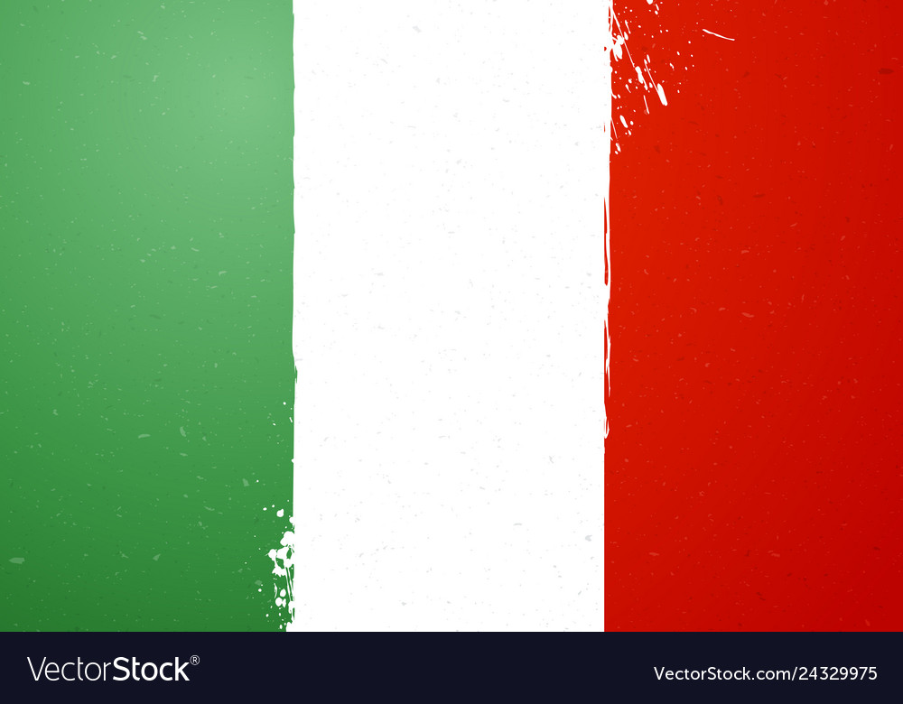 Vintage grunge texture flag of italy