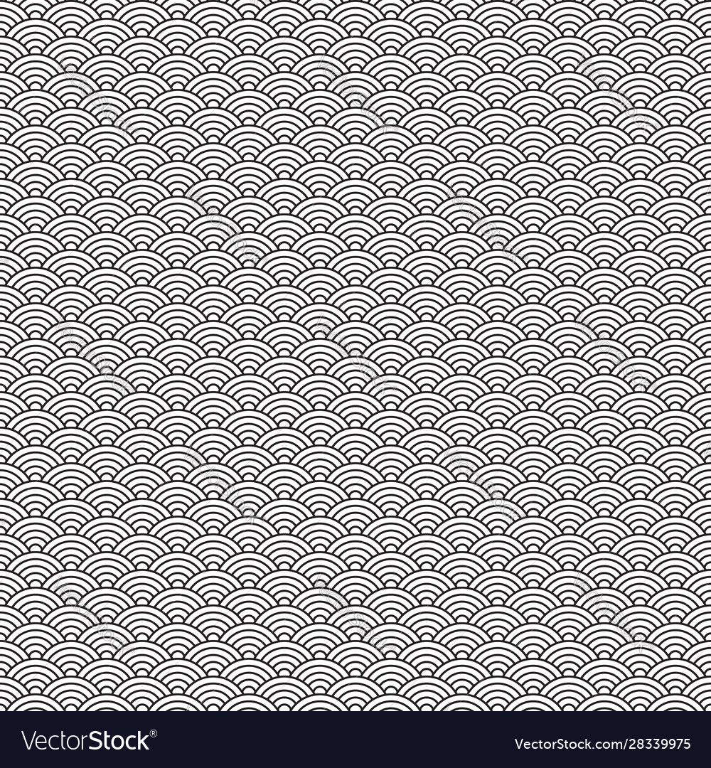 Waves japanese traditional seamless pattern
