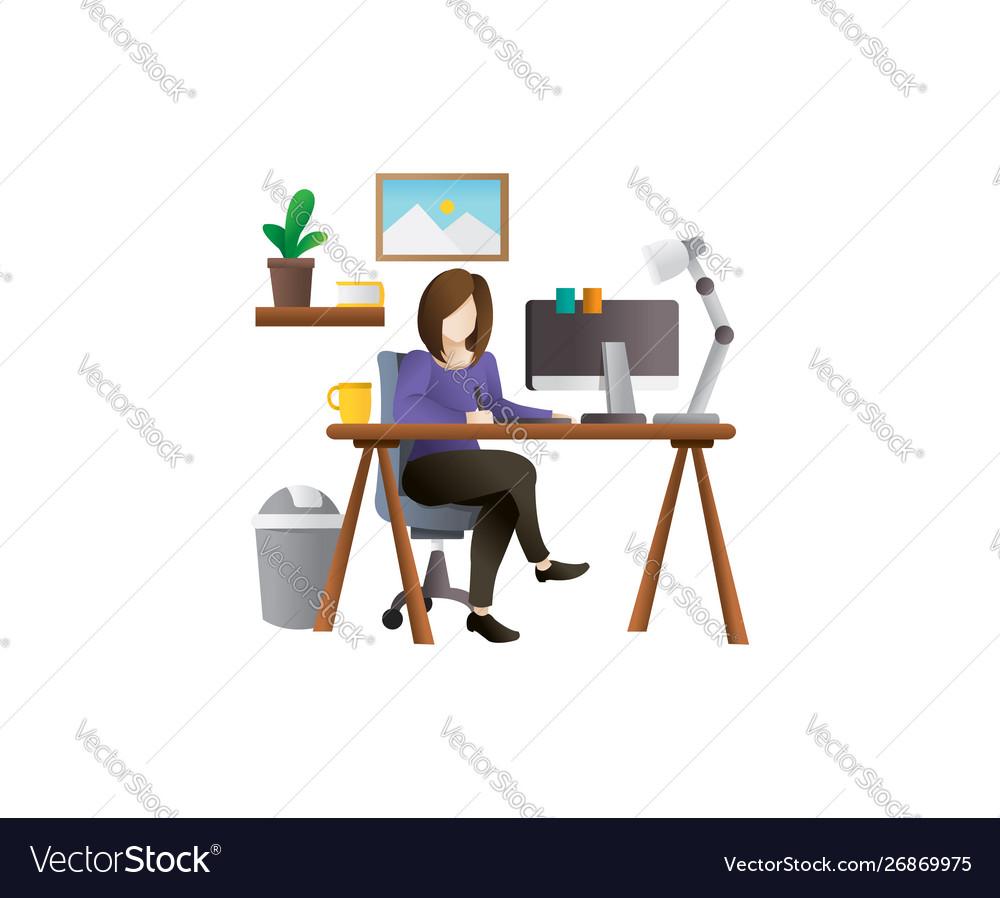 Young female freelancer