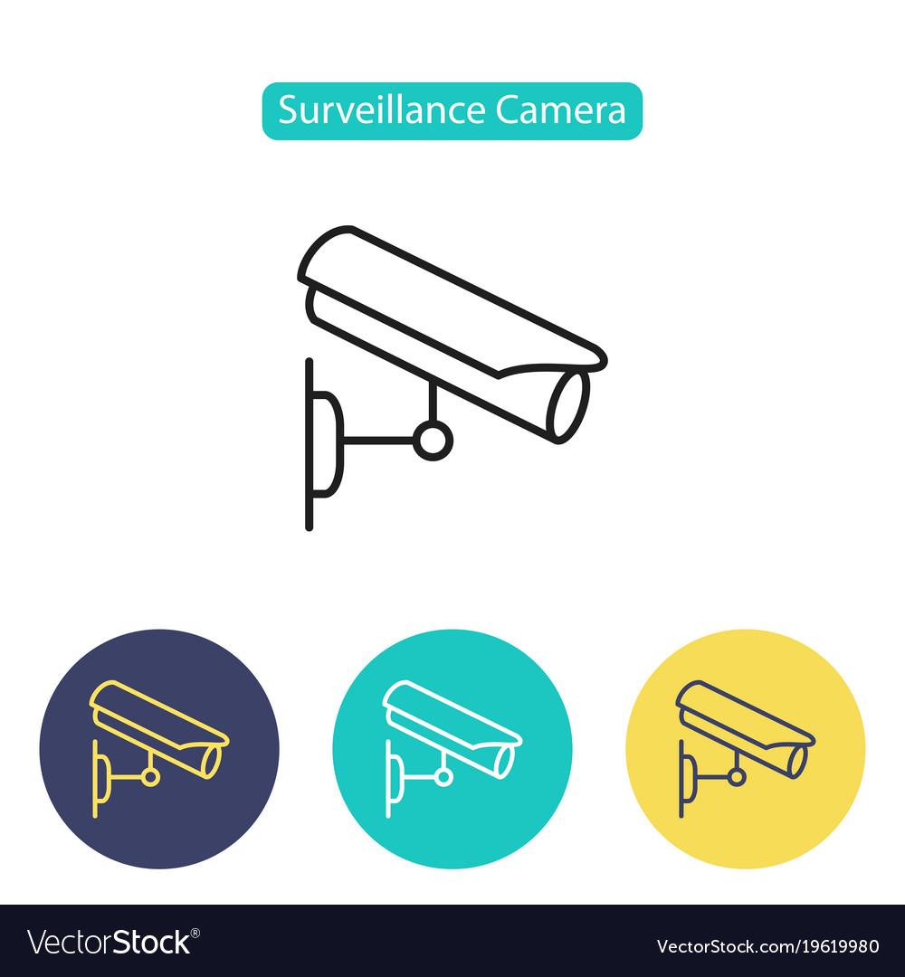 Cctv camera icon video surveillance
