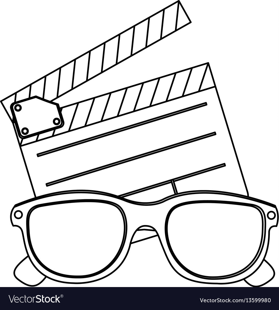 Clipart and 3d glasses icon