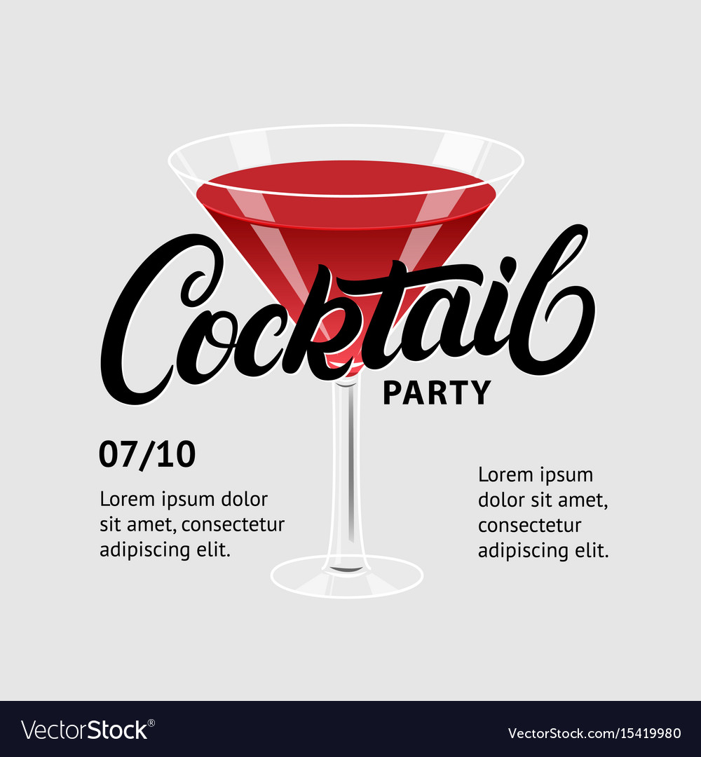 Cocktail party martini glass