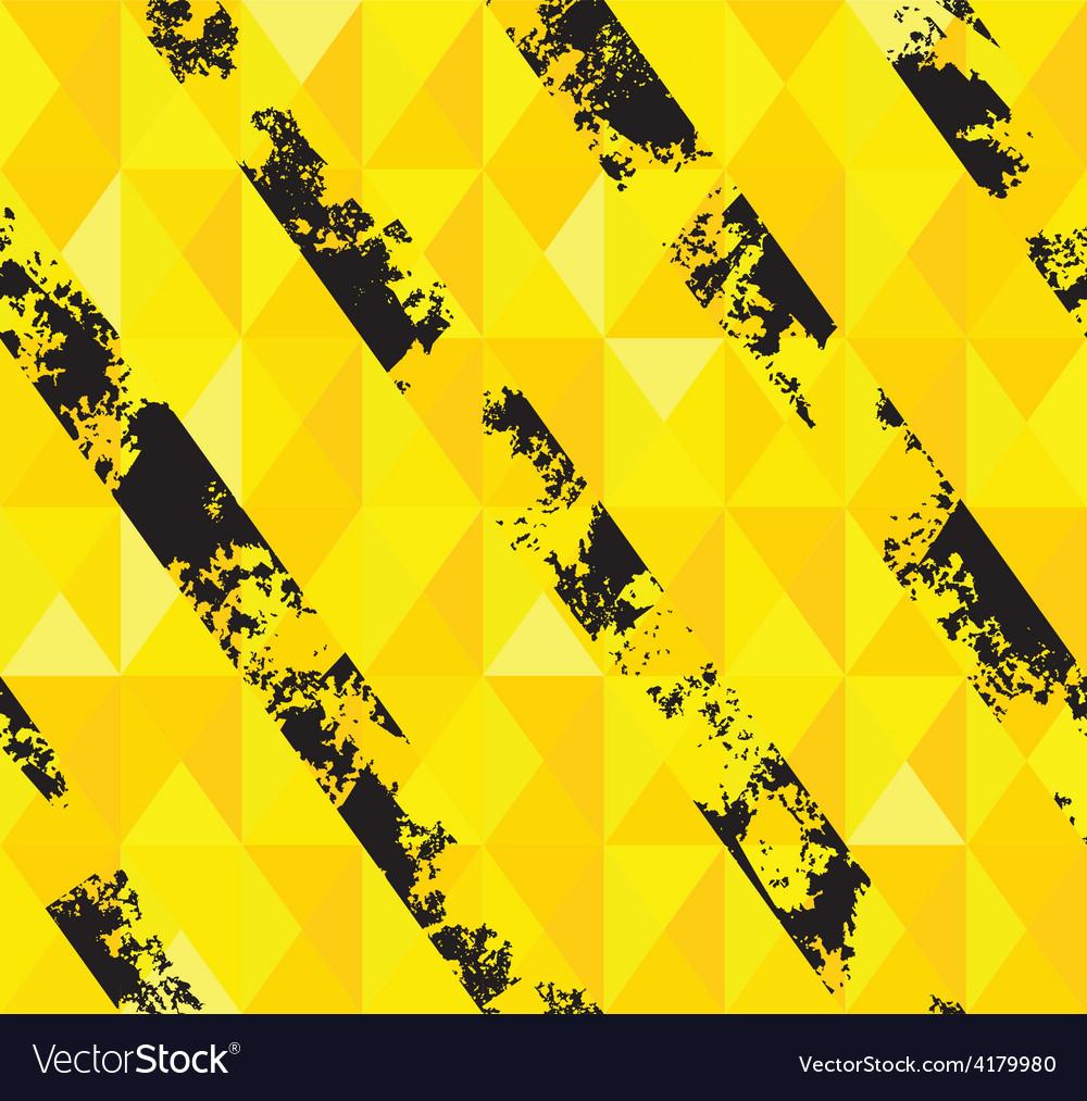 Grungy hazard stripes texture vector image