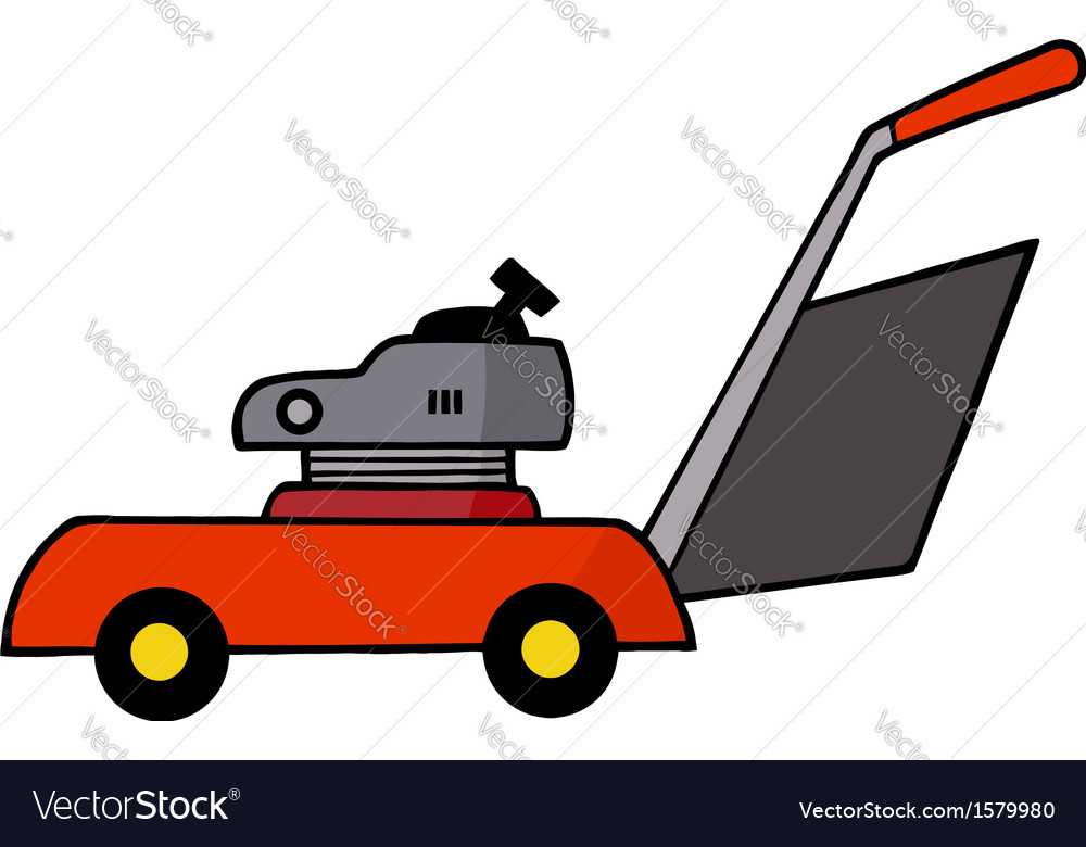 Lawn mower cartoon
