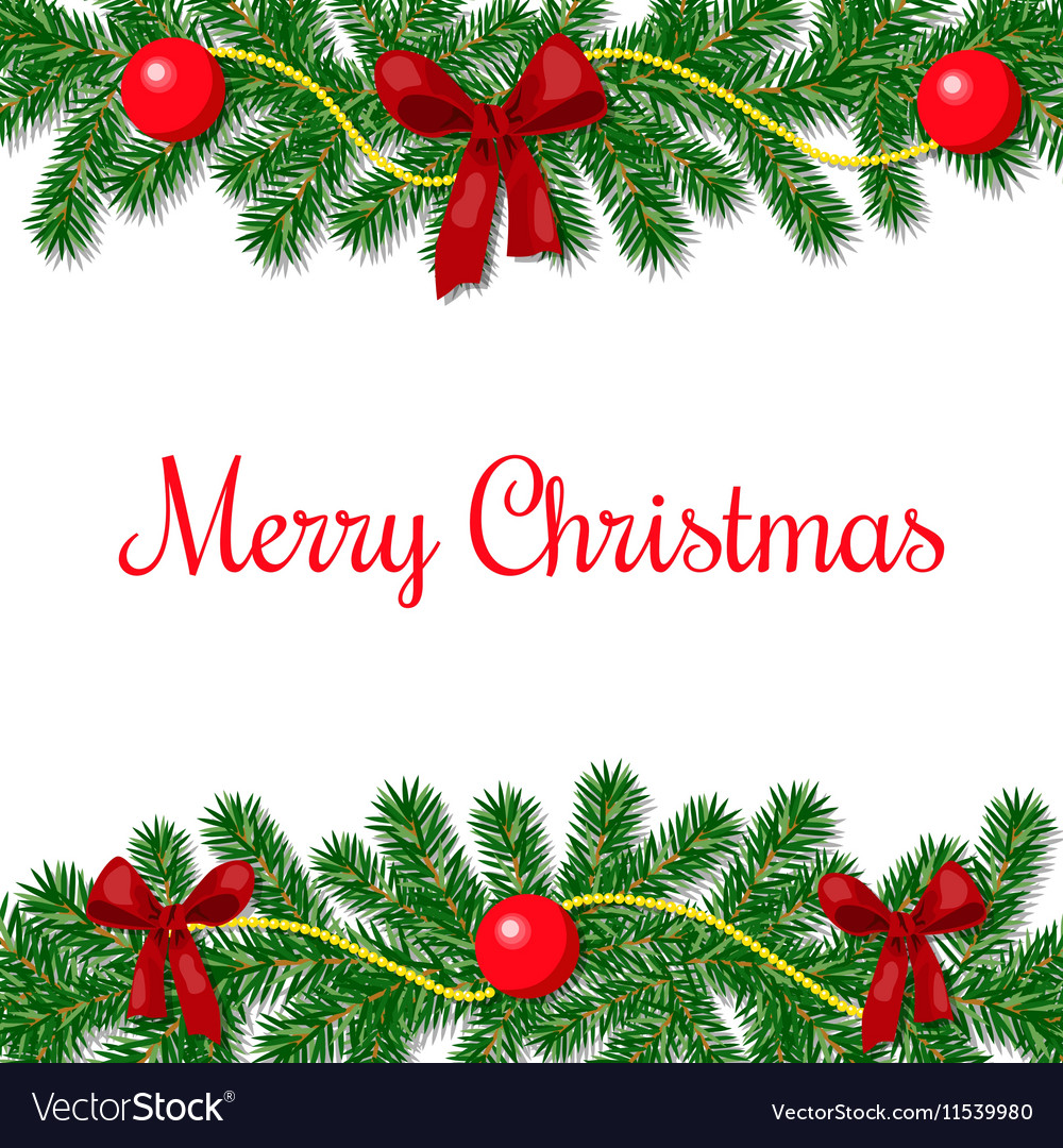 Merry christmas postcard Royalty Free Vector Image