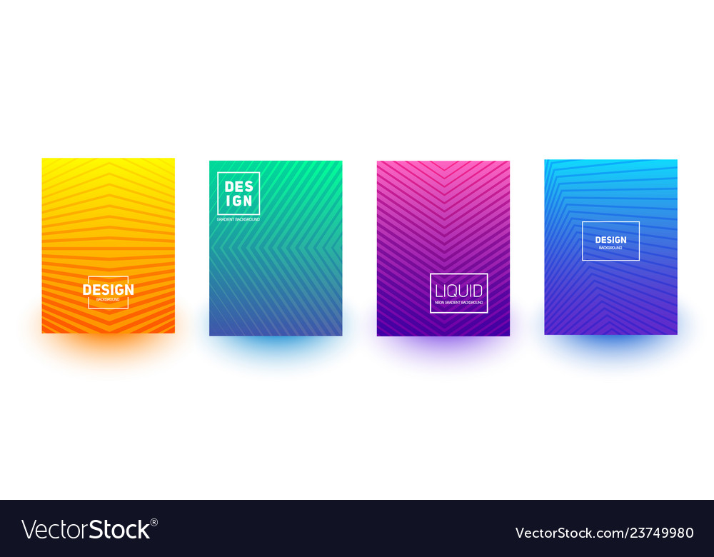 Minimal cover layout designs bright neon