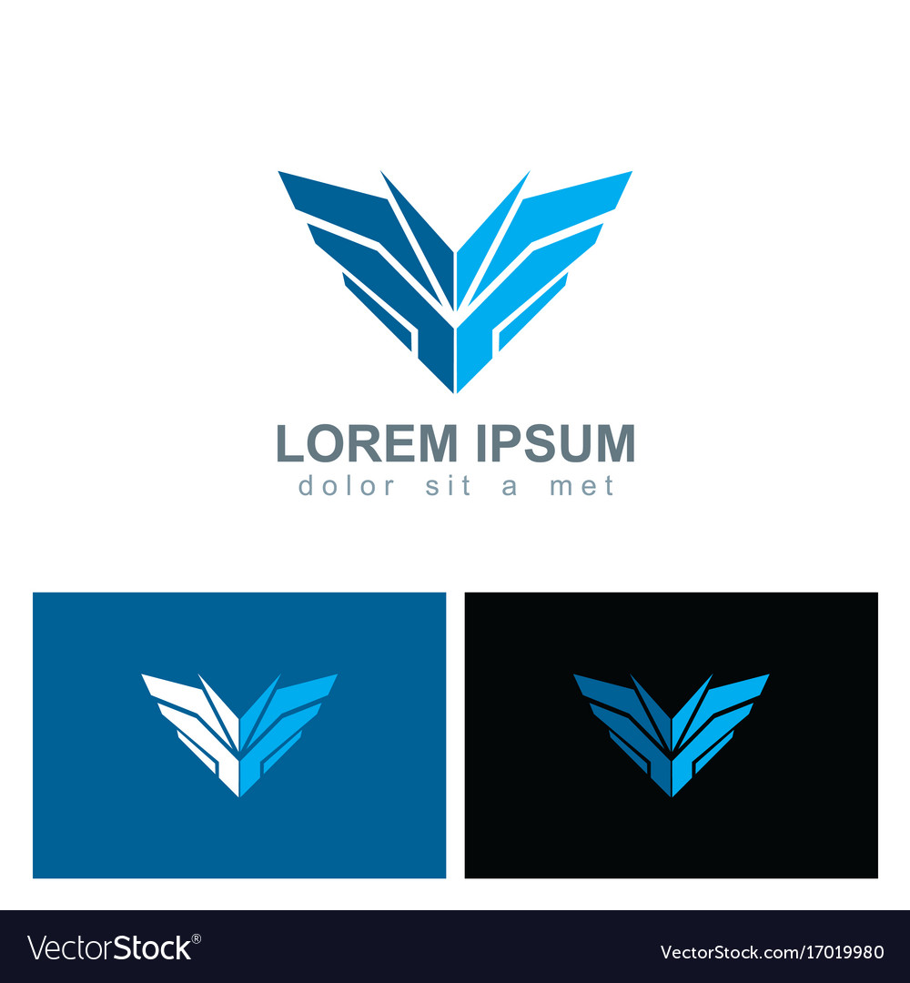 Shape sharp shield logo vector image