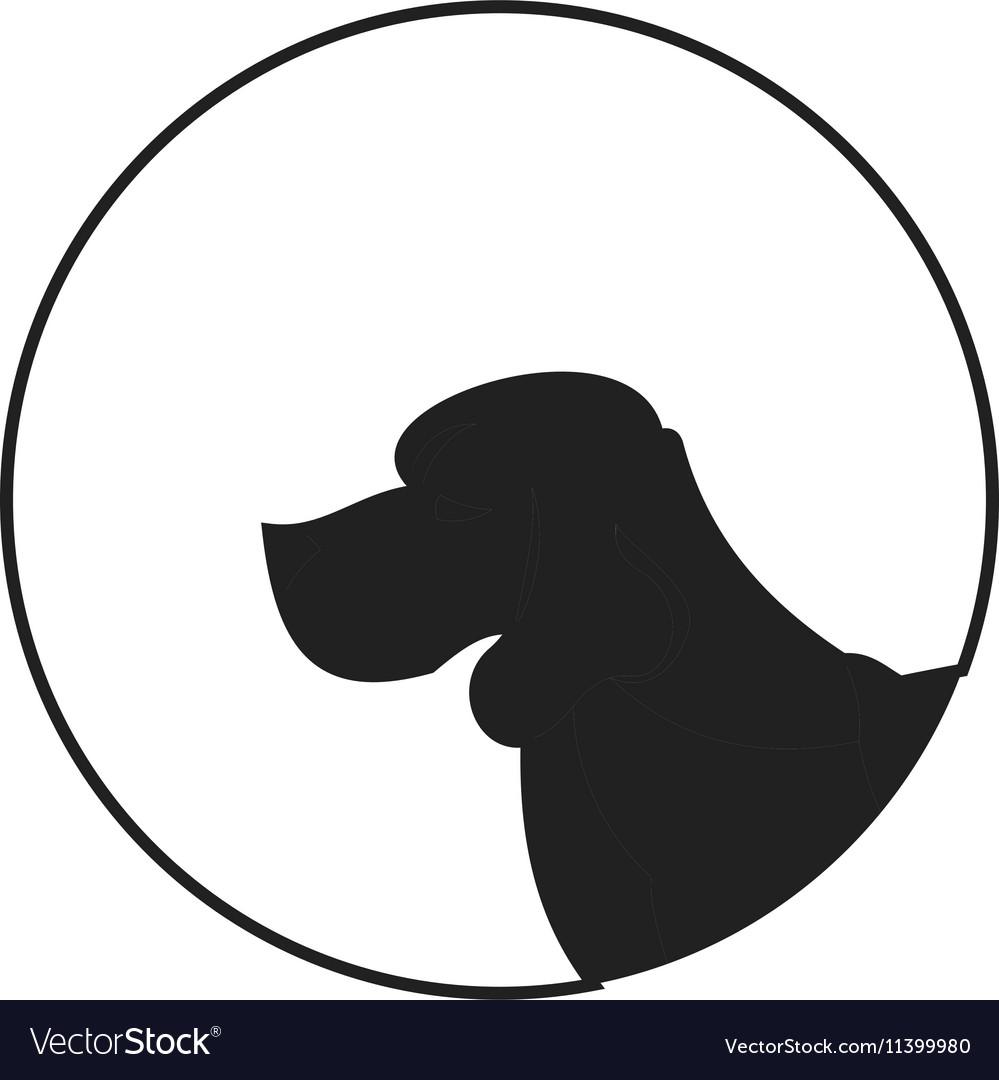 Silhouette of a dog head beagle