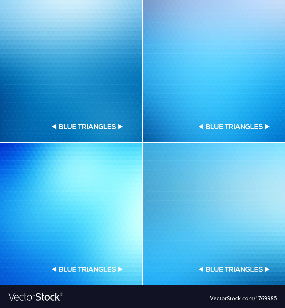 Abstract blue triangle backgrounds set