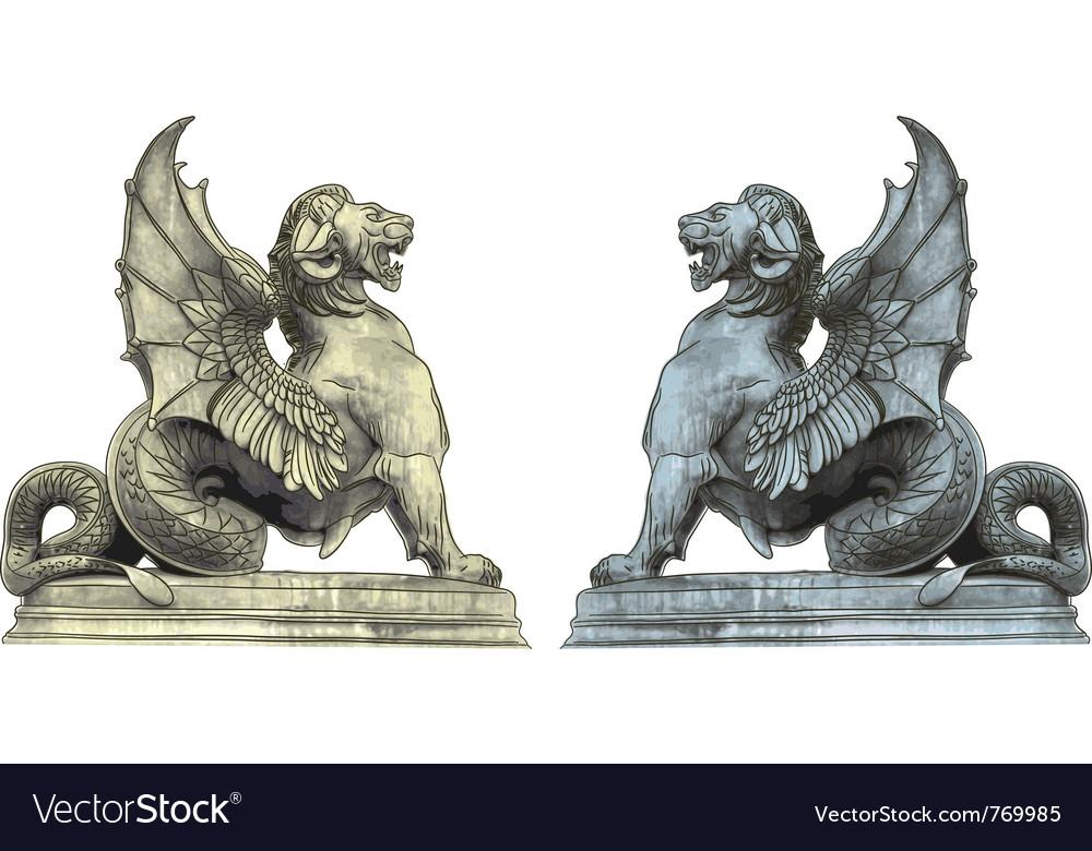 Chimera statues vector image