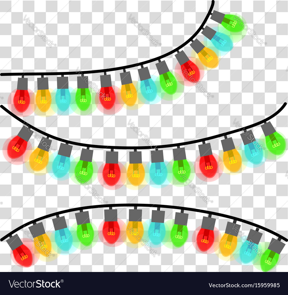 christmas lights string images vector image