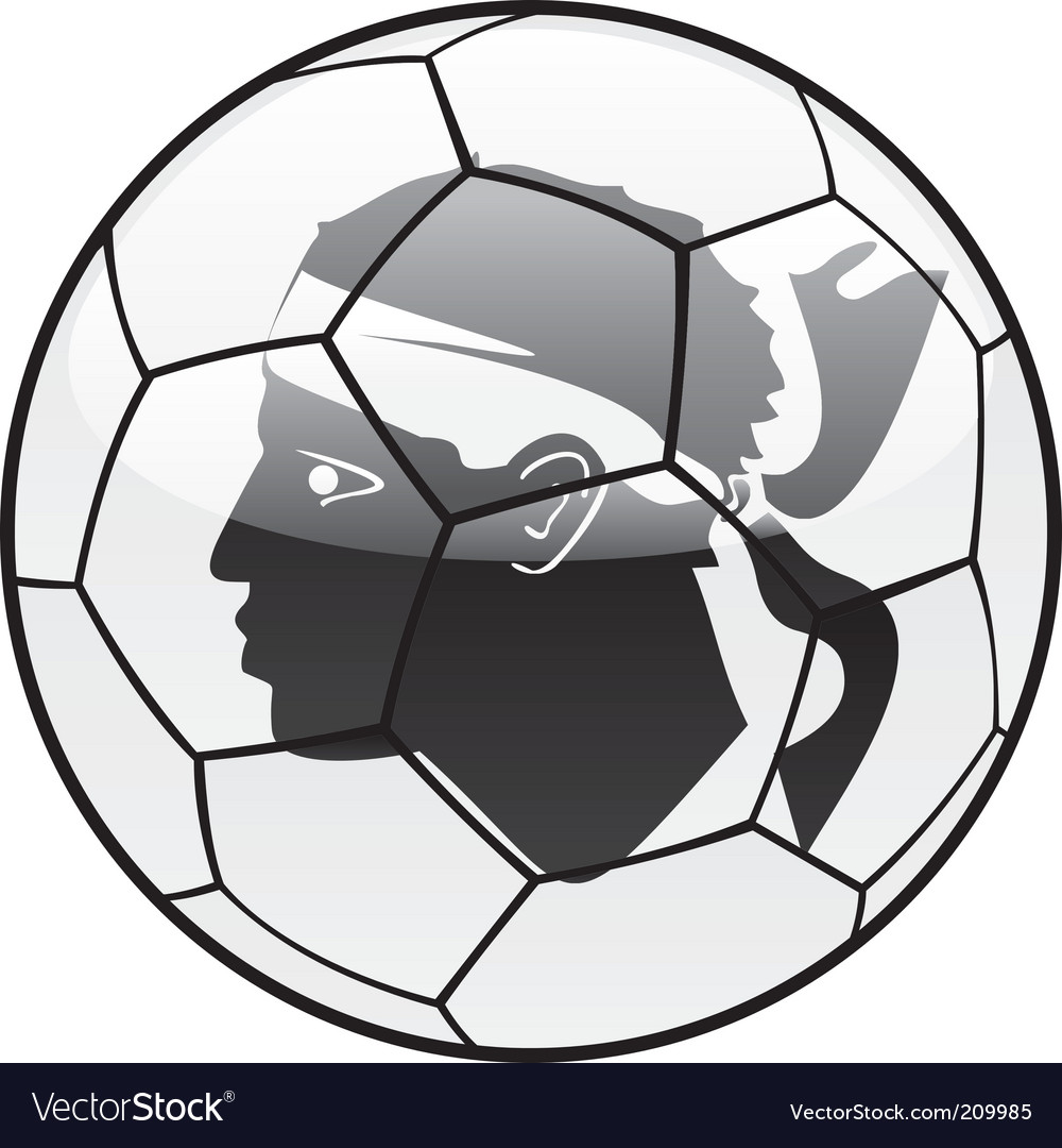Corsica flag on soccer ball vector image