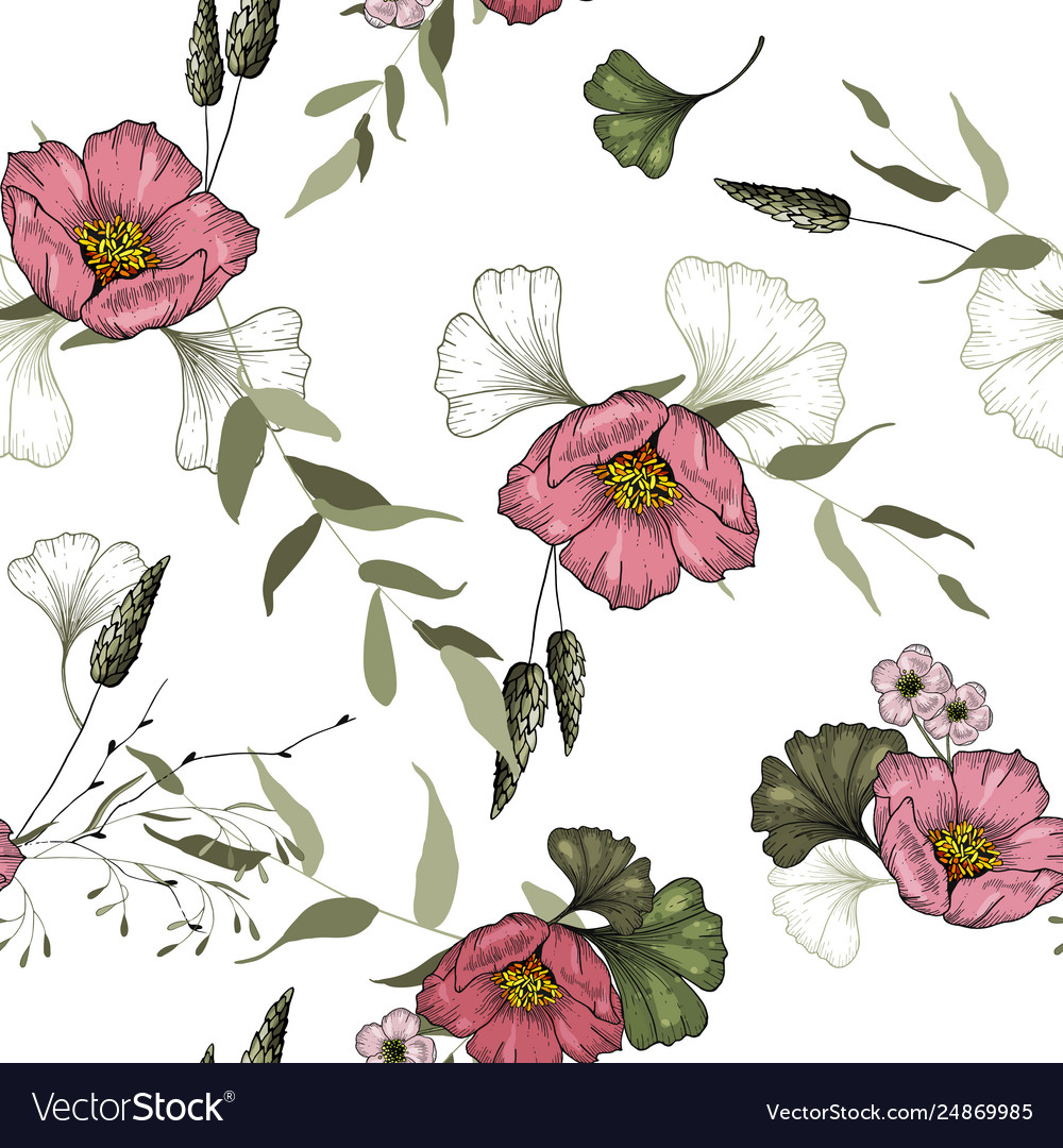 Vintage background wallpaper blooming realistic
