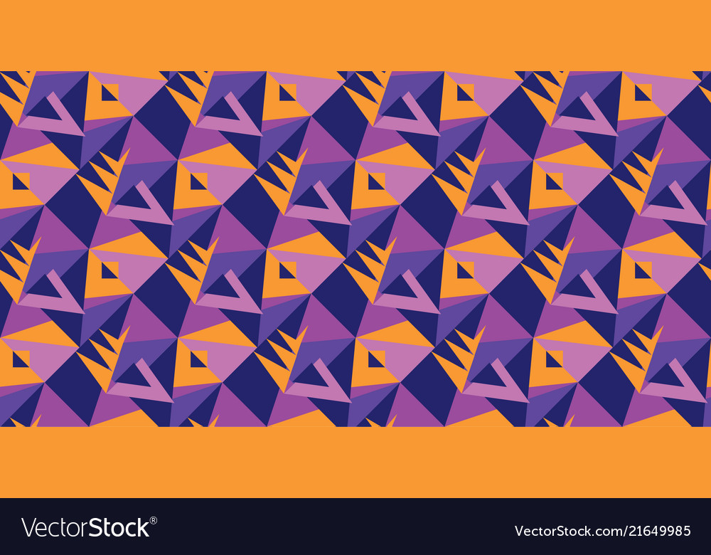 Violet and orange geometric shapes