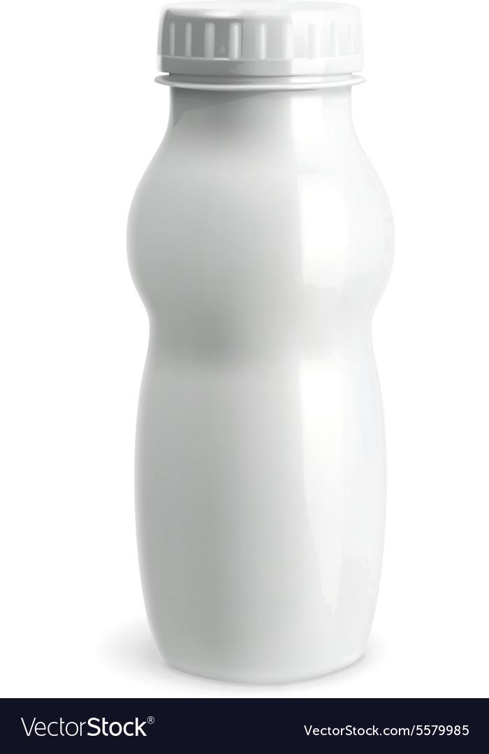 White plastic bottle object vector image