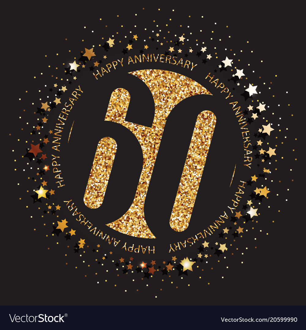 60th Birthday Logo Vector Image