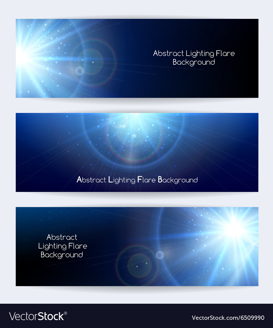 Abstract lighting flare banners