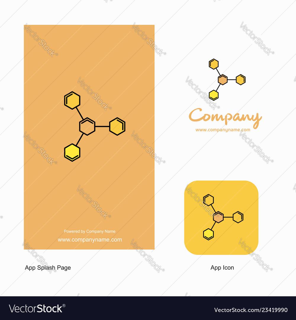 Chemical bonding company logo app icon and splash vector image on  VectorStock